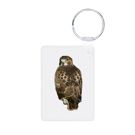 Red-tailed Hawk Aluminum Photo Keychain
