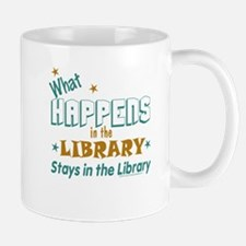 What Happens in the Library.. Small Small Mug