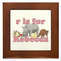 R is for Rebecca Framed Tile