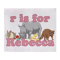 R is for Rebecca Throw Blanket