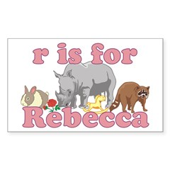 R is for Rebecca Decal