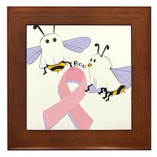 The Boobees Celebrate Breast Framed Tile