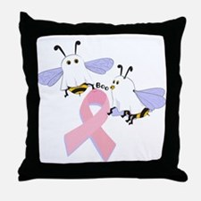 The Boobees Celebrate Breast Throw Pillow