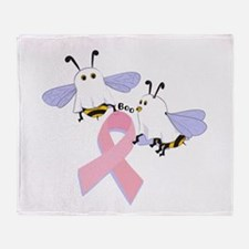 The Boobees Celebrate Breast Throw Blanket