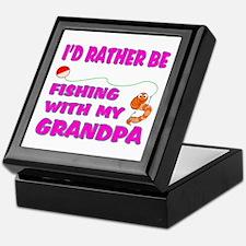 Fishing With Grandpa (Pink) Keepsake Box