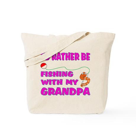Fishing With Grandpa (Pink) Tote Bag