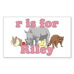 R is for Riley Sticker (Rectangle)