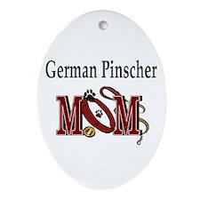 German Pinscher Mom Oval Ornament