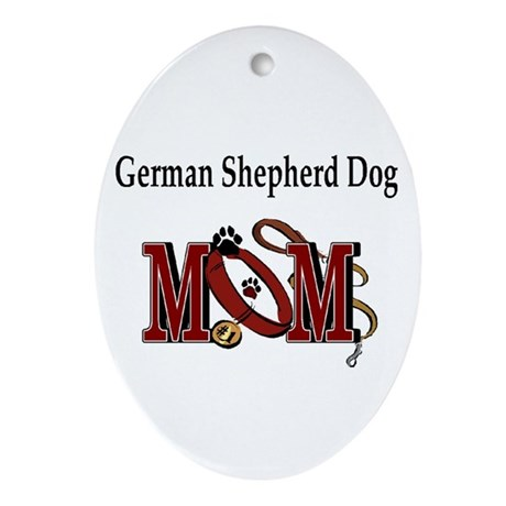 German Shepherd Mom Oval Ornament