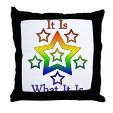 Unique It is what it is Throw Pillow