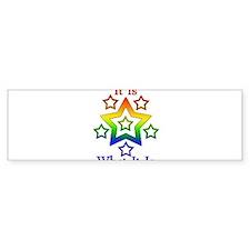 Unique Rainbow pride Bumper Sticker