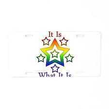 Cute Rainbow pride Aluminum License Plate