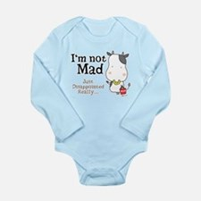 Disappointed Cow Long Sleeve Infant Bodysuit