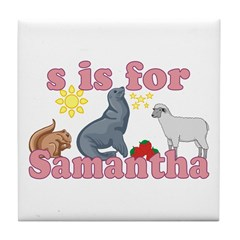 S is for Samantha Tile Coaster