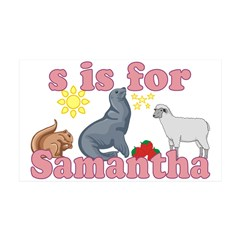 S is for Samantha 38.5 x 24.5 Wall Peel