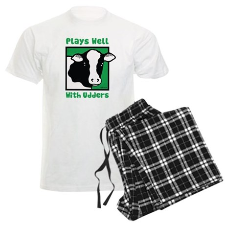 Plays Well With Udders Men's Light Pajamas