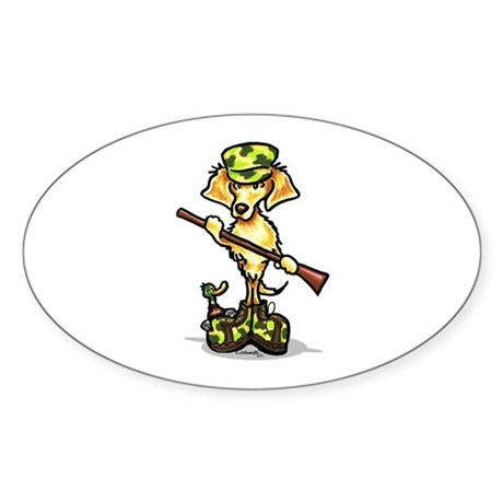 Golden Retriever Hunter Sticker (Oval)
