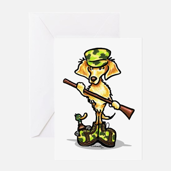 Golden Retriever Hunter Greeting Card