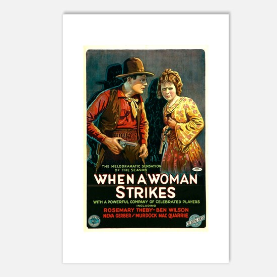 When A Woman Strikes Postcards (Package of 8)
