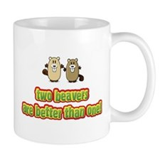Two beavers are better than o Small Mugs
