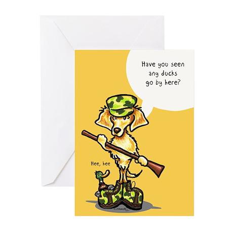 Golden Retriever Hunter Greeting Cards (Pk of 10)
