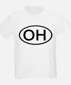 OH - Initial Oval Kids T-Shirt