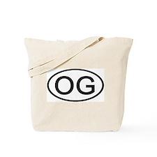 OG - Initial Oval Tote Bag