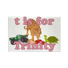 T is for Trinity Rectangle Magnet (10 pack)