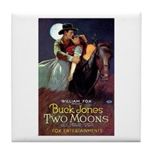 Two Moons Tile Coaster