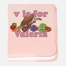 V is for Valeria baby blanket