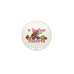 V is for Valeria Mini Button (100 pack)
