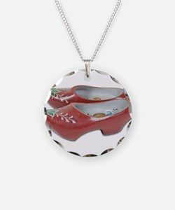 Painted Wooden Shoes Necklace