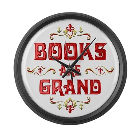 Books are Grand Large Wall Clock