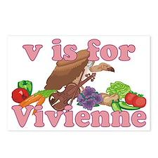 V is for Vivienne Postcards (Package of 8)