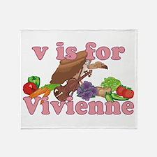 V is for Vivienne Throw Blanket