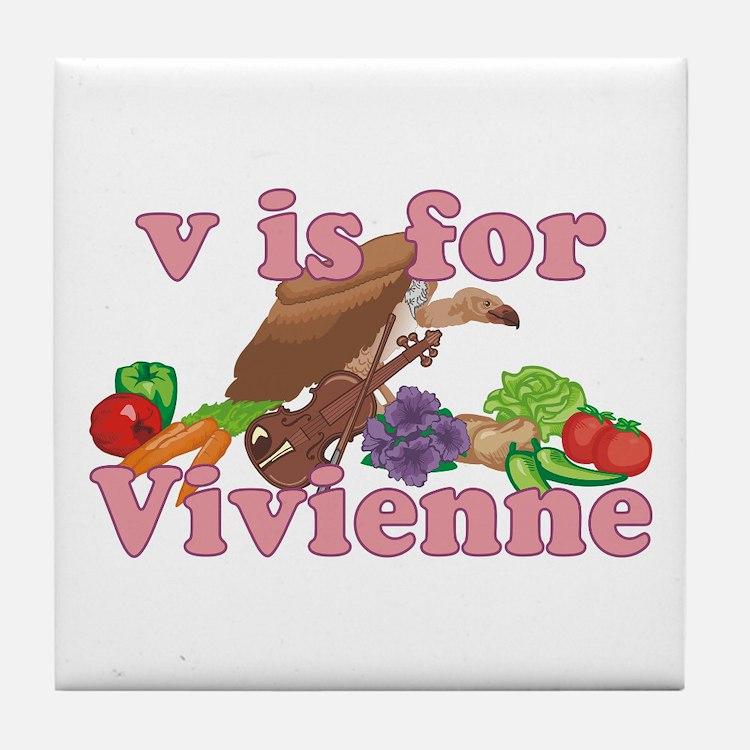 V is for Vivienne Tile Coaster