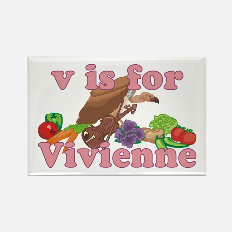 V is for Vivienne Rectangle Magnet