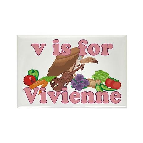 V is for Vivienne Rectangle Magnet (100 pack)