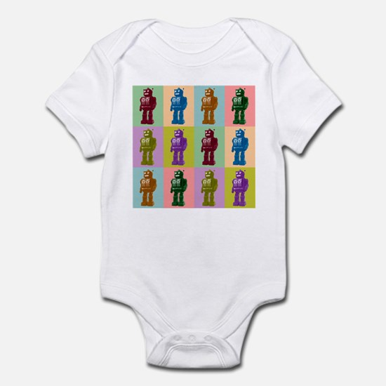 Pop Art Robots Infant Bodysuit