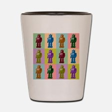 Pop Art Robots Shot Glass