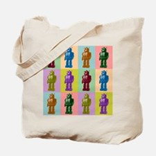 Pop Art Robots Tote Bag