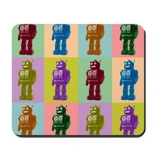 Pop Art Robots Mousepad