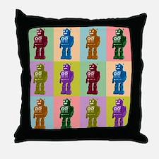 Pop Art Robots Throw Pillow