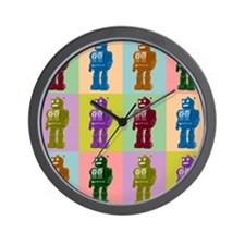 Pop Art Robots Wall Clock