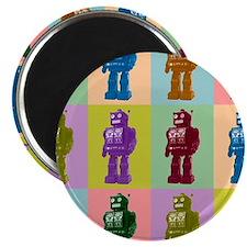 Pop Art Robots Magnet