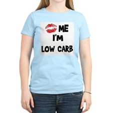 Kiss Me I'm Low Carb Women's Pink T-Shirt