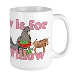 W is for Willow Large Mug
