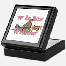 W is for Willow Keepsake Box