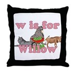 W is for Willow Throw Pillow