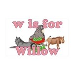 W is for Willow 38.5 x 24.5 Wall Peel